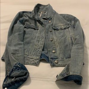 Free people jean jacket size XS